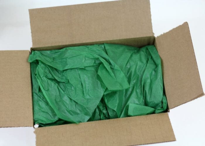 Wrap everything in the box with tissue paper