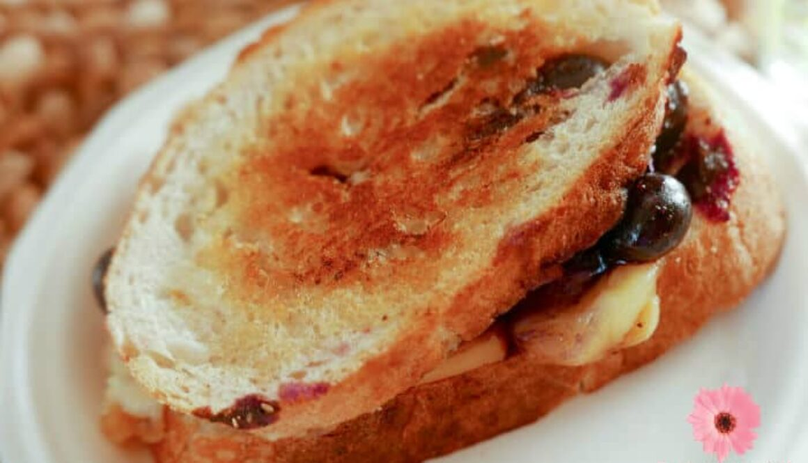 Learn the secret for making the best grilled cheese sandwich that everyone will love! Check out this Grilled Cheese and Blueberries Strangewich Recipe with Hellmann's Real Squeeze Mayonnaise