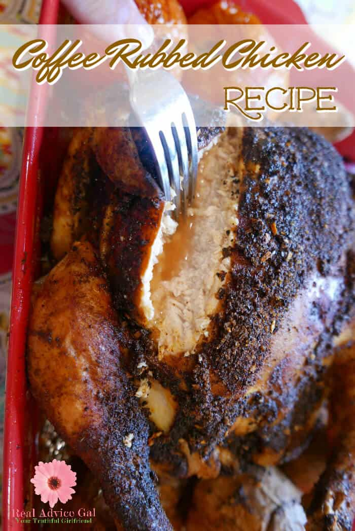 Add a delicious twist to your recipe. This coffee rub for chicken recipe makes the chicken oh so yummy. You can also use this coffee rub for pork, steak or burgers.