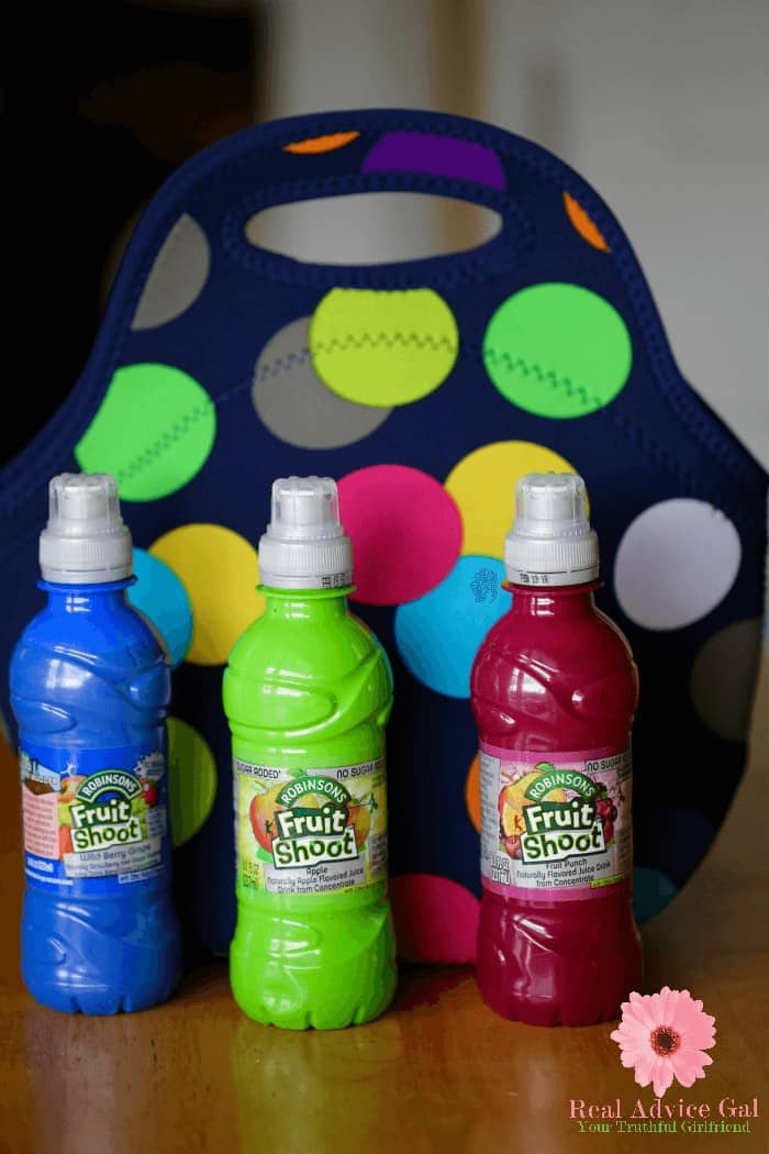 Robinson's Fruit Shoot® are made with real fruit juice from concentrate, plenty of water, no high fructose corn syrup or those awful artificial flavors.