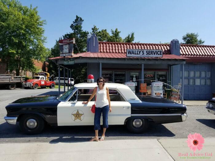 Sheriff tour at Mount Airy North Carolina