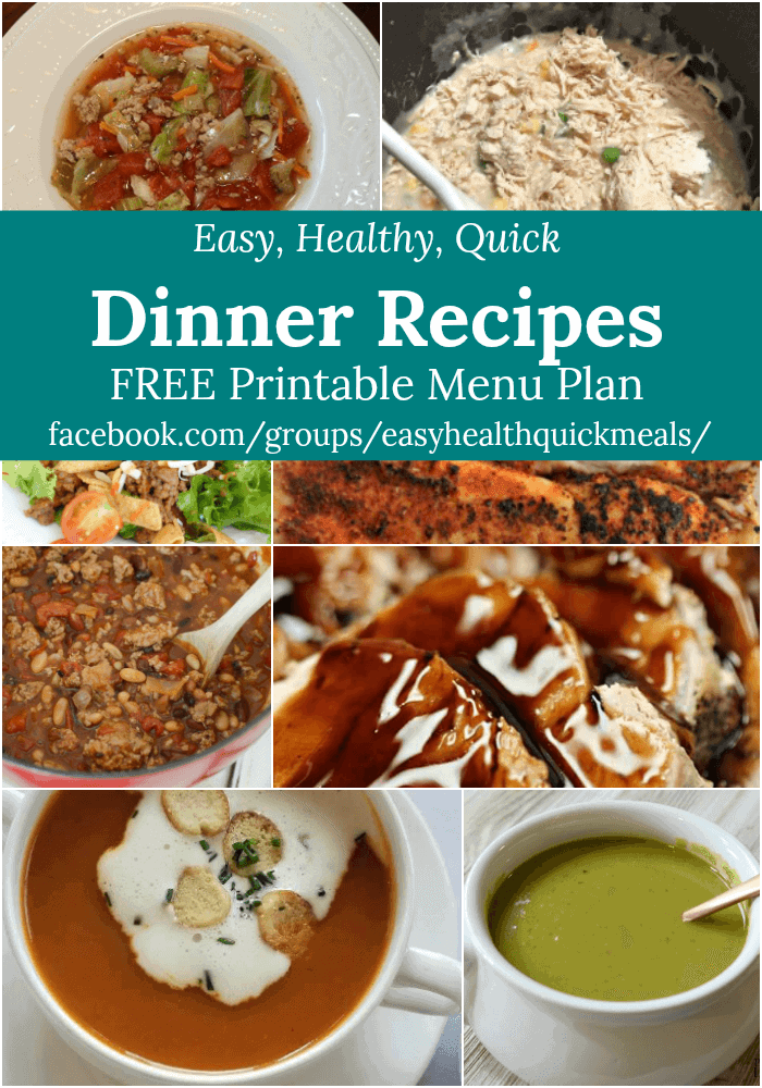 We made meal planning super easy for you. Save time and money with our free printable menu plan