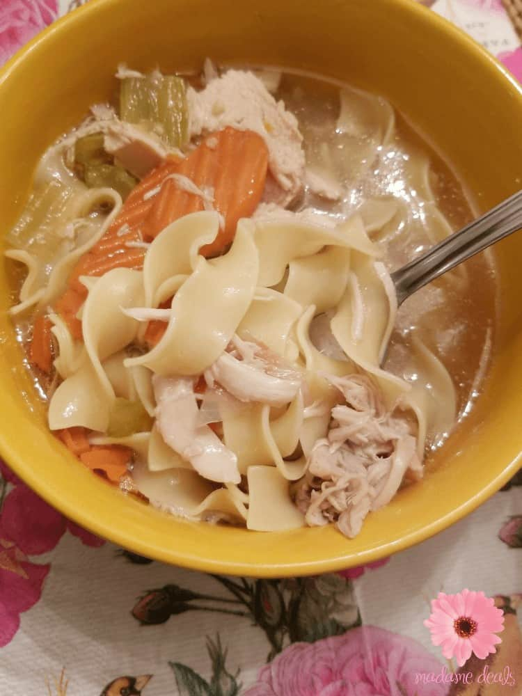 If you're not feeling well my grandmom's chicken soup is the comfort food that you need. This instant pot pressure cooker chicken soup recipe with whole chicken is so easy to make and so delicious.