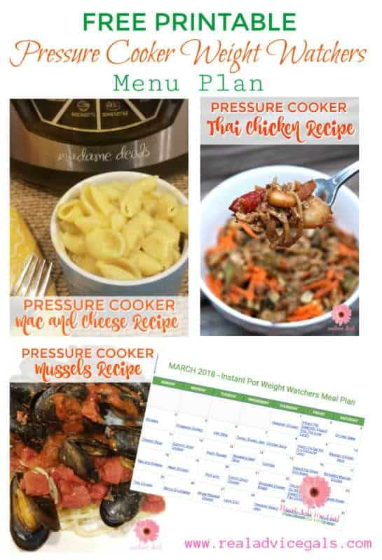 Eat without guilt. Stay on a diet while enjoying your food with Weight Watchers recipes. Get our free printable Pressure Cooker Weight Watchers Menu Plan