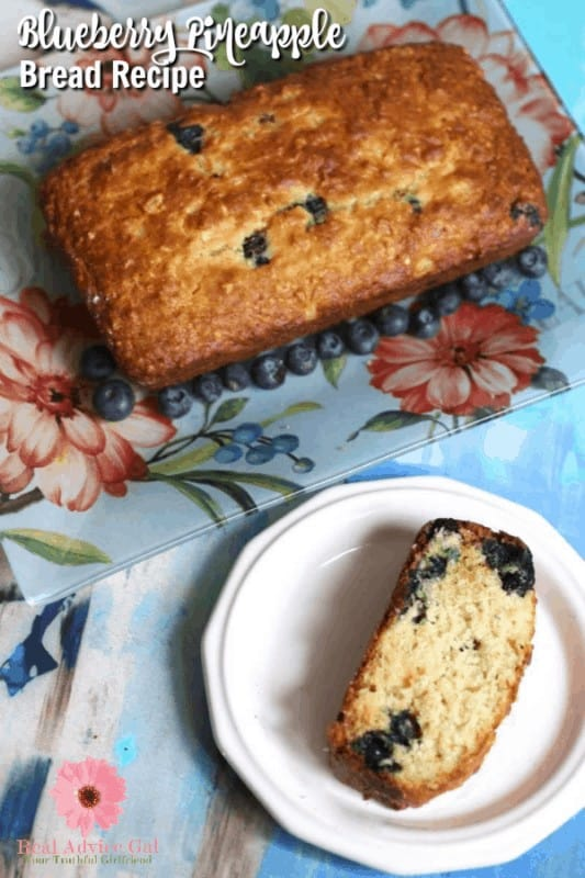 Easy and so divine! Try this blueberry pineapple yogurt bread recipe