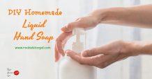 DIY Homemade Liquid Hand Soap