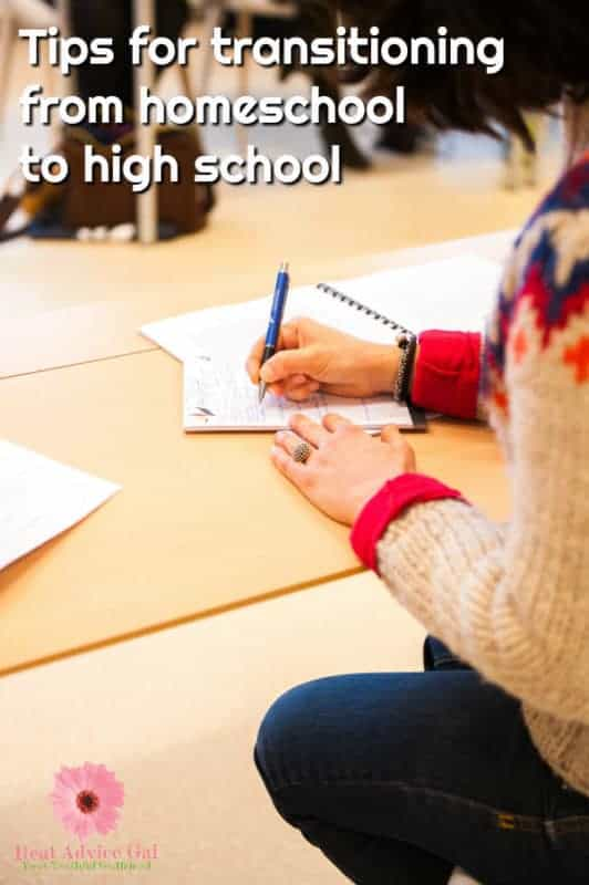 Tips for transitioning kids from homeschool to high school