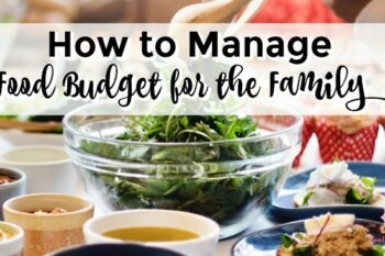 how to manage food budget