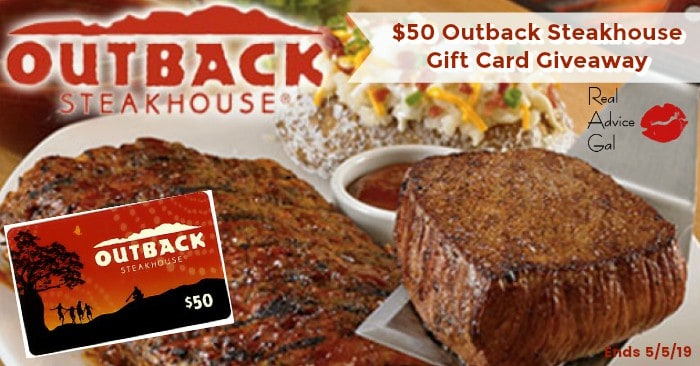 $50 Outback Steakhouse Gift Card Giveaway