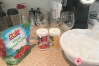 Strawberry Daiquiri and Pina Colada Kids Party Drinks